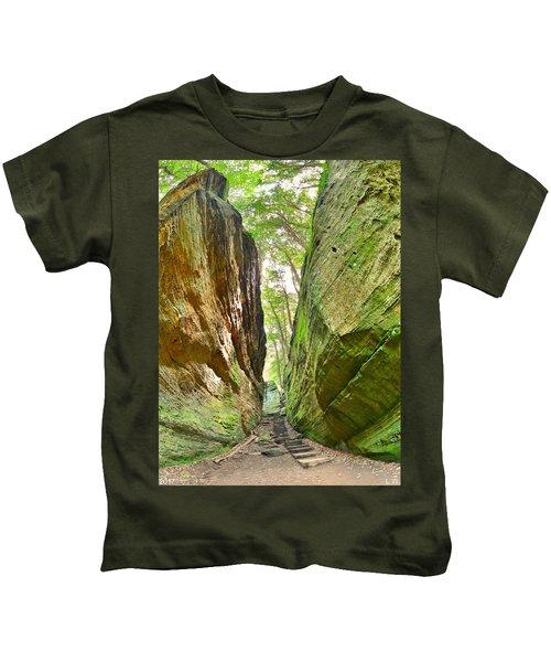 Cantwell Cliffs Trail Hocking Hills Ohio Kids T-Shirt