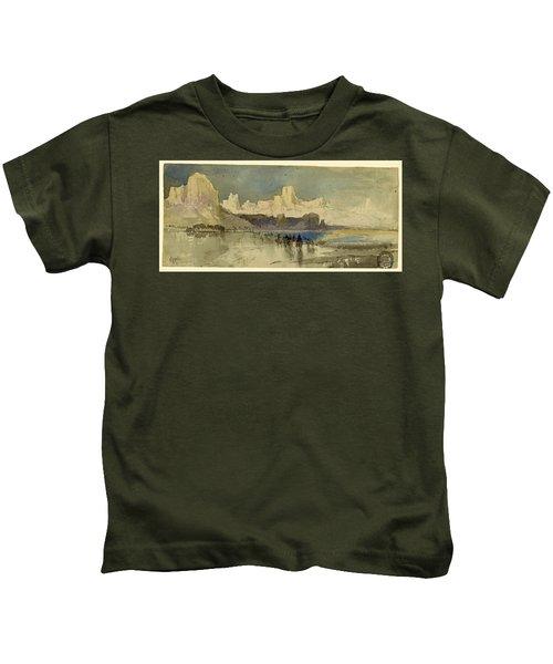 Canyon Of The Rio Virgin, South Utah, 1873 Kids T-Shirt