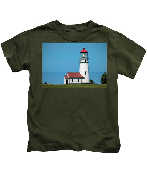 Cape Blanco Lighthouse At Cape Blanco, Oregon Kids T-Shirt