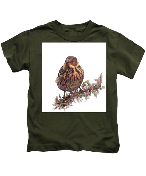 Cape May Warbler Kids T-Shirt
