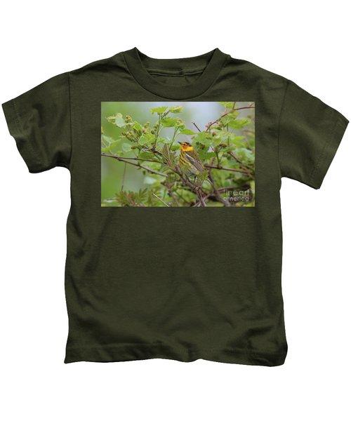 Cape May Warbler Kids T-Shirt