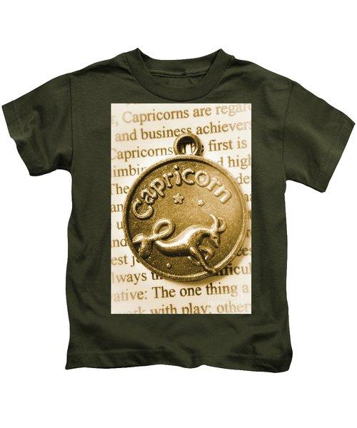 Capricorn Zodiac Lucky Charm Kids T-Shirt
