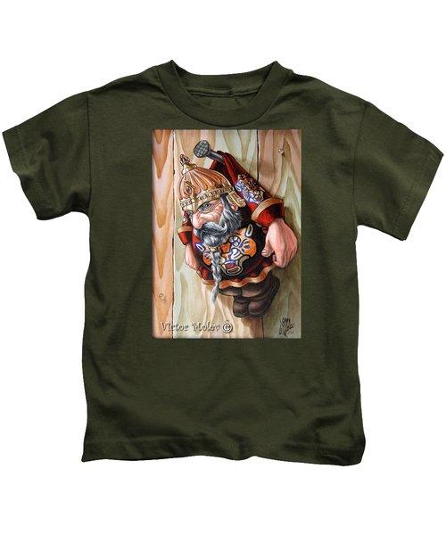 Captive Dwarf In Tiger Suit Kids T-Shirt