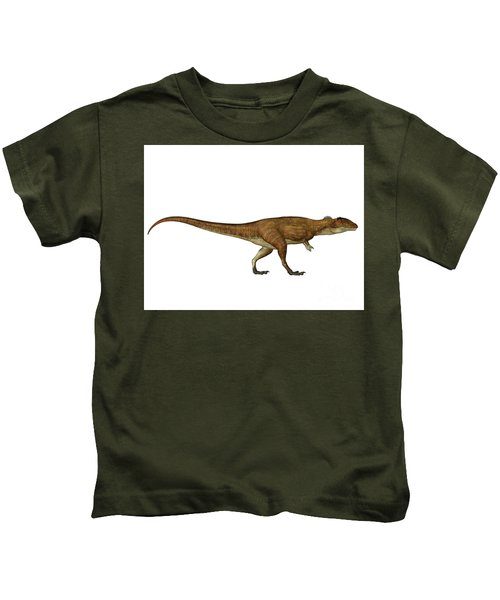 Carcharodontosaurus Side Profile Kids T-Shirt