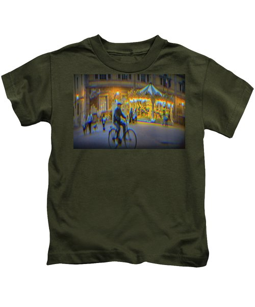 Carousel Lucca Italy Kids T-Shirt