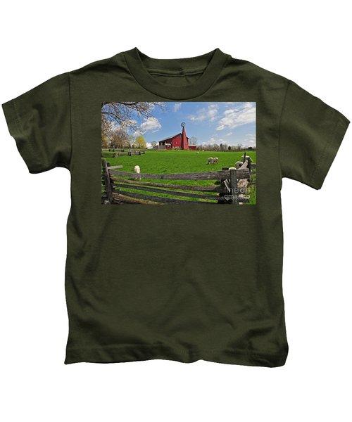 D14d-43 Carriage Hill Farm Metro Park Photo Kids T-Shirt