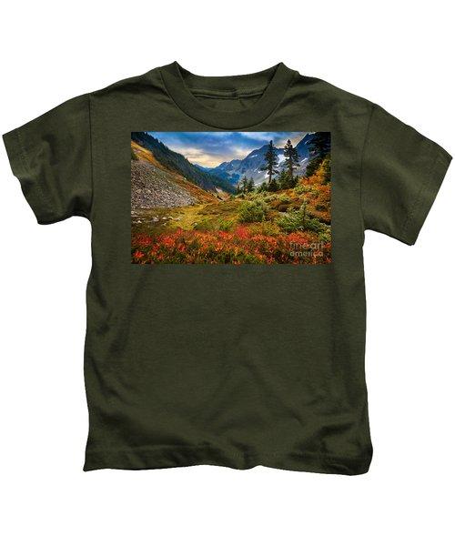 Cascade Pass Fall Kids T-Shirt
