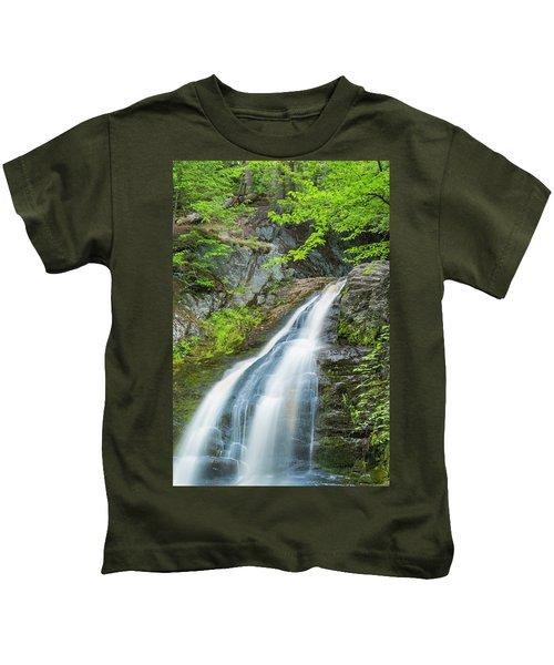 Cascade Waterfalls In South Maine Kids T-Shirt