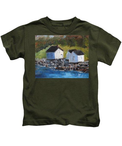Casco Bay Boat Houses Kids T-Shirt