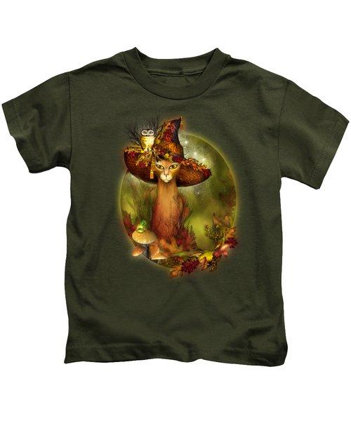 Cat In Fancy Witch Hat 3 Kids T-Shirt