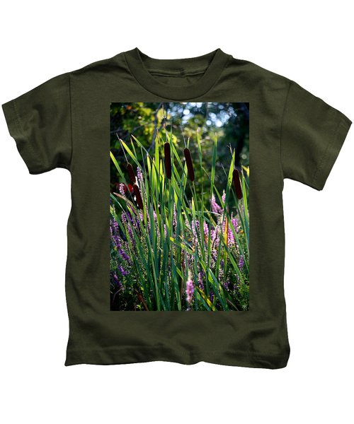 Cat Tails In The Morning Kids T-Shirt
