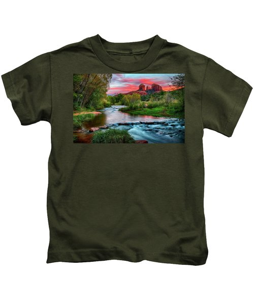 Cathedral At Sunset Kids T-Shirt