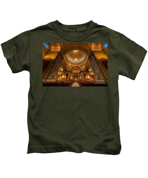 Cathedral Of St Paul Wide Interior St Paul Minnesota Kids T-Shirt