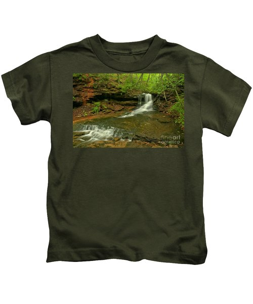 Cave Falls Arial View Kids T-Shirt