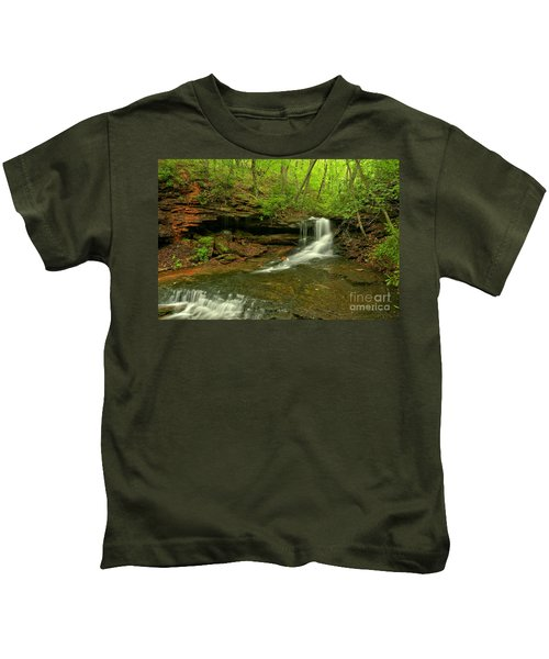 Cave Falls Of Somerset County Kids T-Shirt