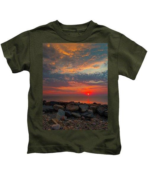 Cedar Point Sunrise Kids T-Shirt