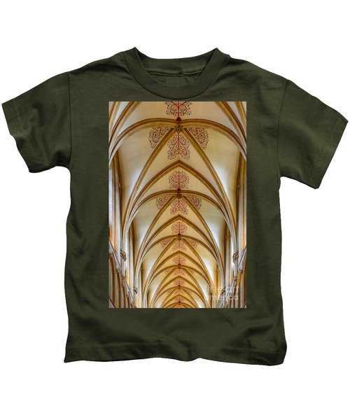 Ceiling, Wells Cathedral. Kids T-Shirt