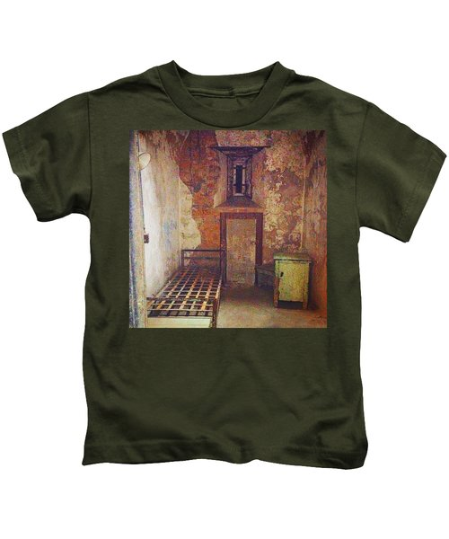 Cell At Eastern State Penitentiary Kids T-Shirt