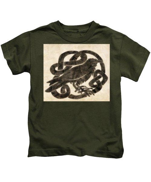 Celtic Raven Knot Kids T-Shirt