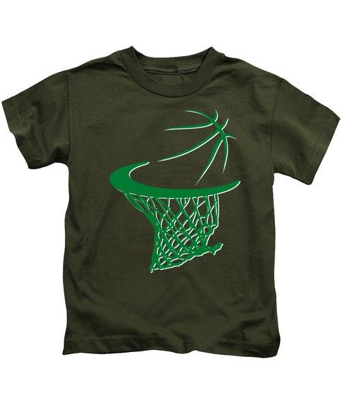 Celtics Basketball Hoop Kids T-Shirt by Joe Hamilton