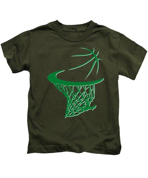 Celtics Basketball Hoop Kids T-Shirt
