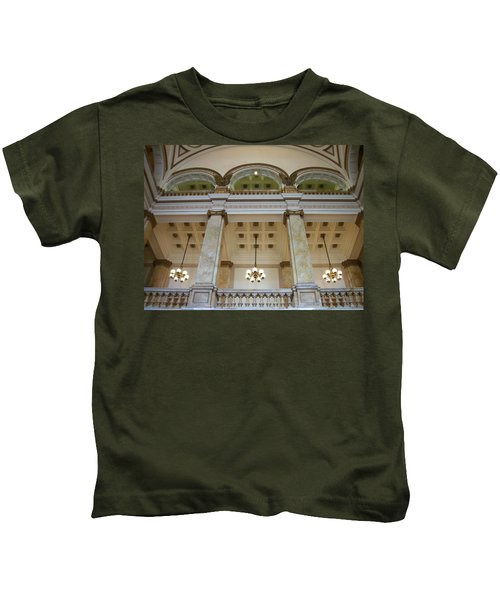Central Library Milwaukee Interior Kids T-Shirt