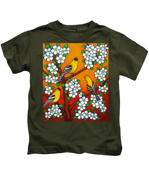 Chardonnay Sunset Kids T-Shirt