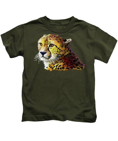 Cheetah Kids T-Shirt by Anthony Mwangi