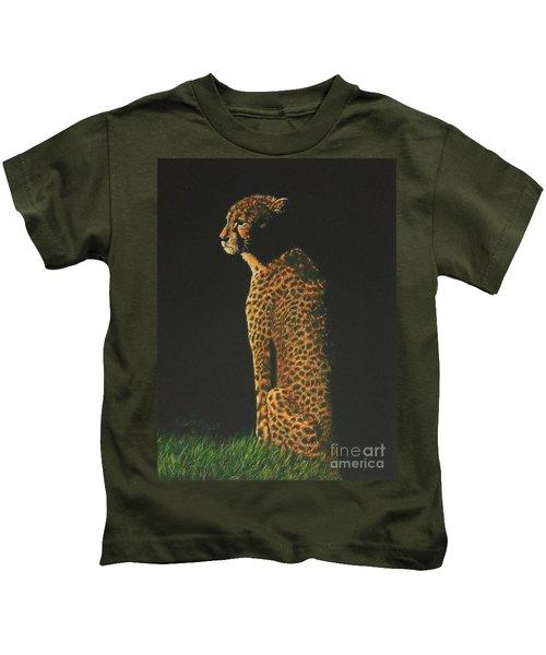 Cheetah At Sunset Kids T-Shirt