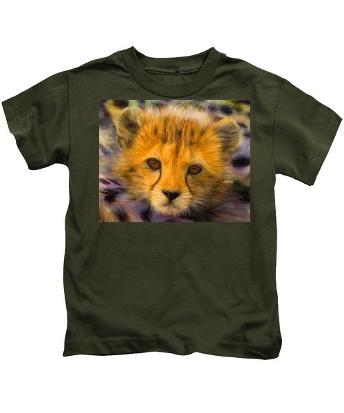 Cheetah Cub Kids T-Shirt