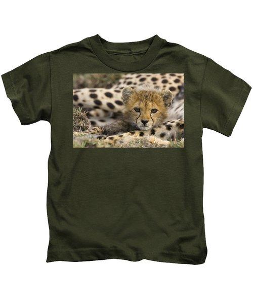 Cheetah Cub Portrait Kids T-Shirt
