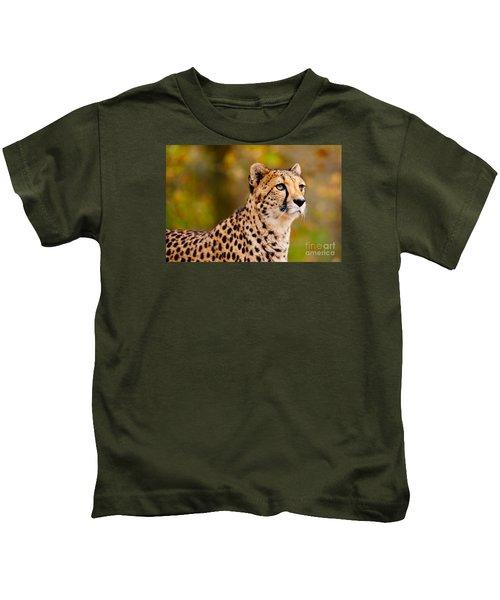 Cheetah In A Forest Kids T-Shirt