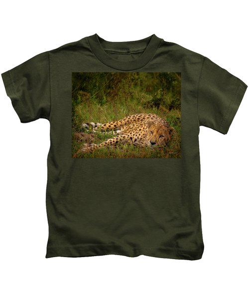 Cheetah Resting, Masai-mara Kids T-Shirt