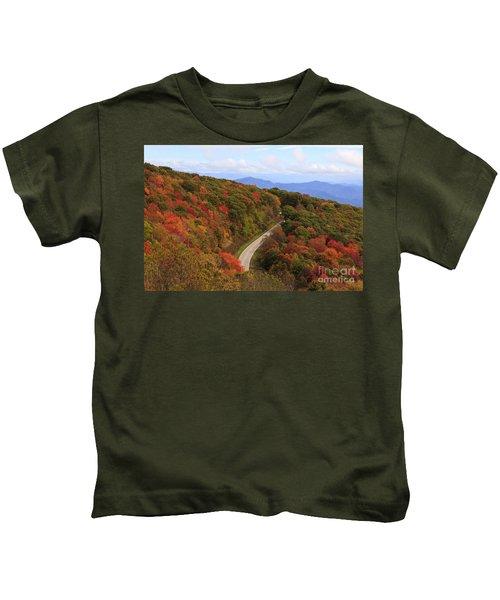 Cherohala Skyway In Nc Kids T-Shirt