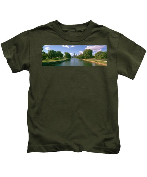 Chicago From Lincoln Park, Illinois Kids T-Shirt by Panoramic Images