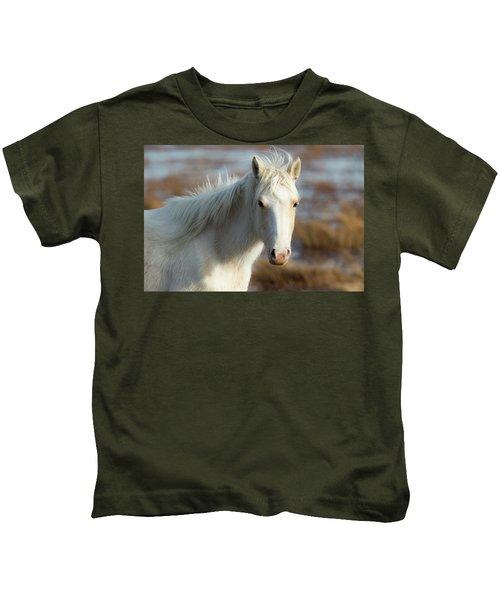 Chincoteague White Pony Kids T-Shirt
