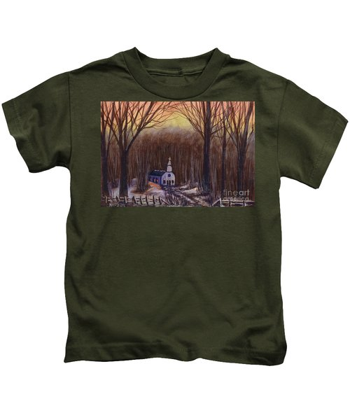 Church In The Woods  Kids T-Shirt
