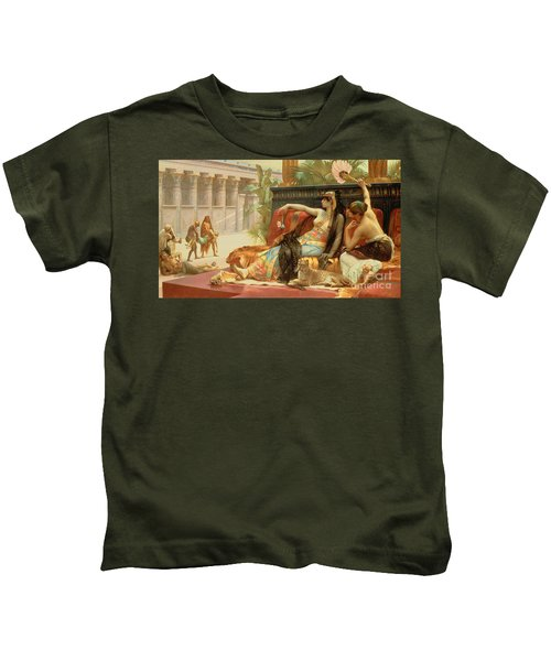 Cleopatra Testing Poisons On Those Condemned To Death Kids T-Shirt