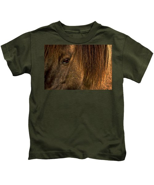 Closeup Of An Icelandic Horse #2 Kids T-Shirt