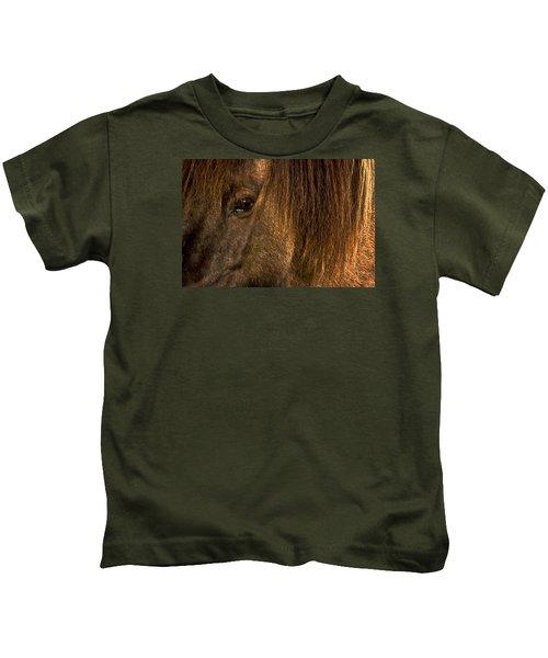 Closeup Of An Icelandic Horse #2 Kids T-Shirt