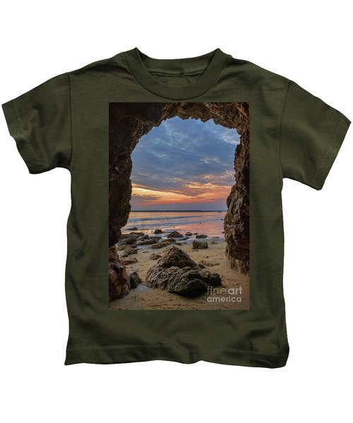 Cloudy Sunset At Low Tide Kids T-Shirt