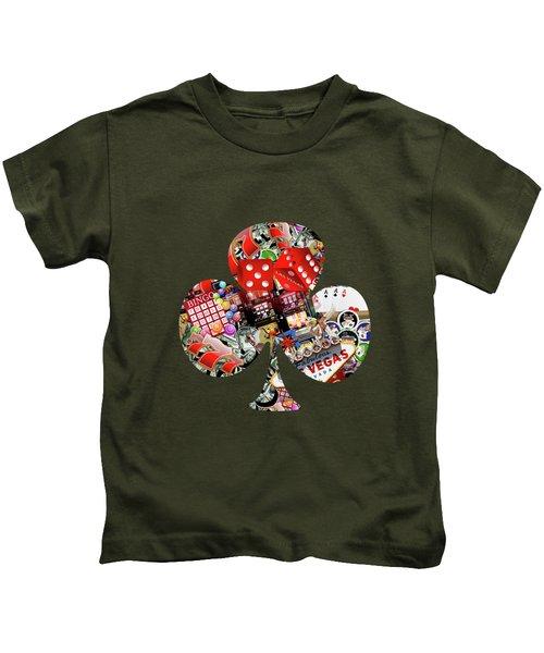 Club Playing Card Shape  Kids T-Shirt