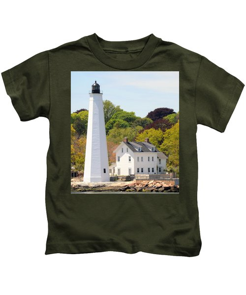 Coastal Lighthouse-c Kids T-Shirt