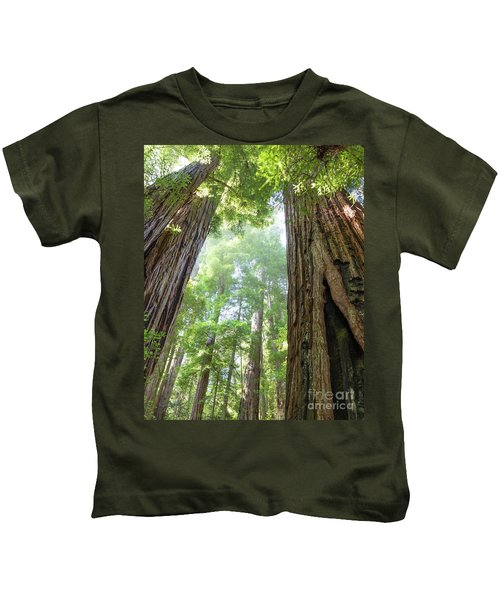 Coastal Redwoods  Kids T-Shirt