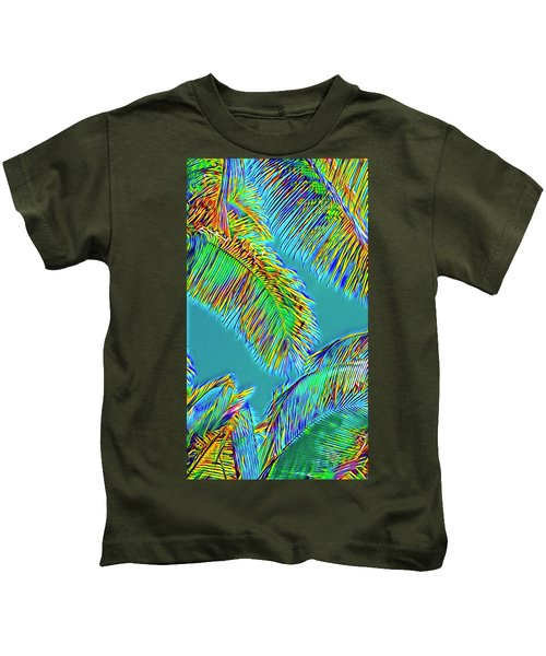Coconut Palms Psychedelic Kids T-Shirt