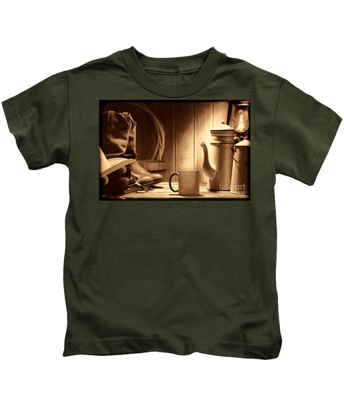 Coffee At The Ranch Kids T-Shirt