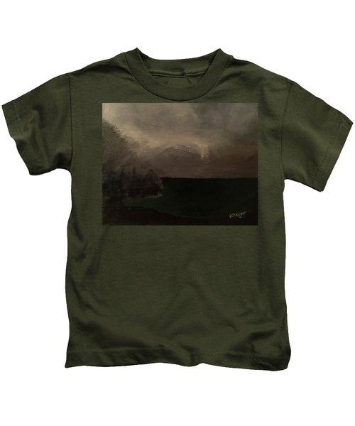 Cold Fog And Sea Kids T-Shirt