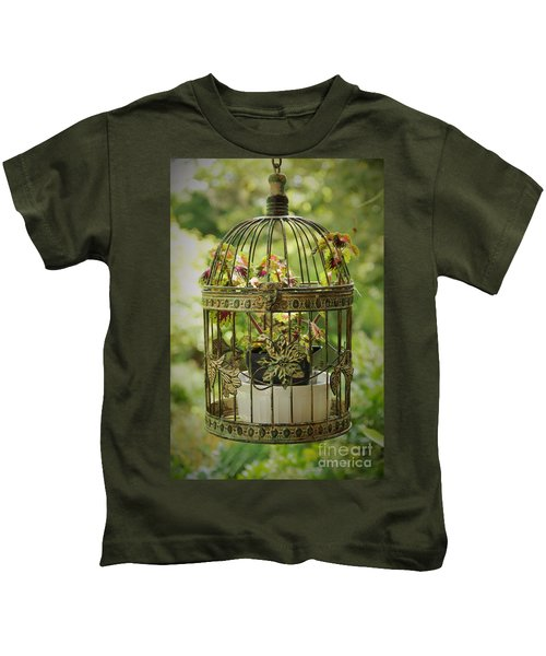 Coleus In Vintage Birdcage Kids T-Shirt