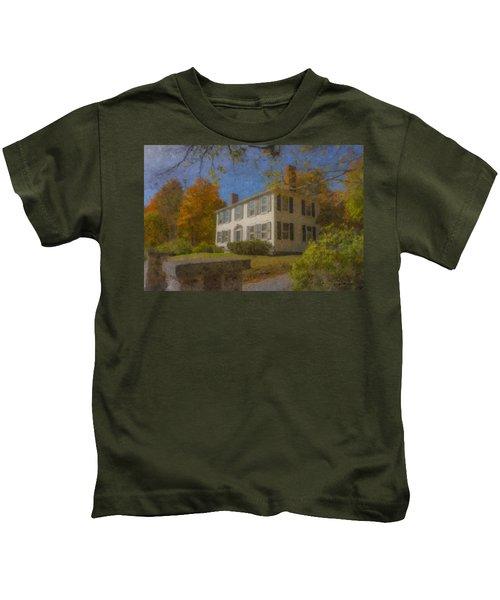 Colonial House On Main Street, Easton Kids T-Shirt
