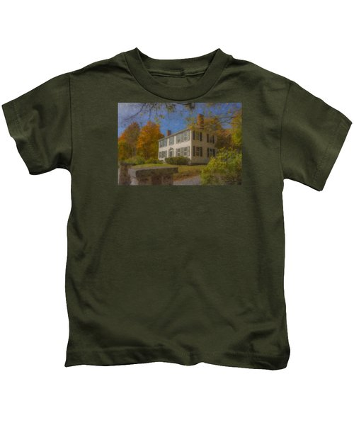 Colonial House On Main Street, Easton Kids T-Shirt